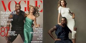 Lebron James y Gisele Bundchen para Vogue, por Leibovitz