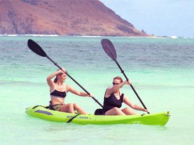 vacaciones, verano kayak, deporte