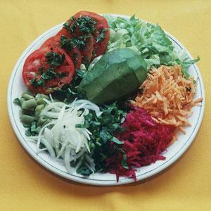 vegano, vegetariano, ensalada
