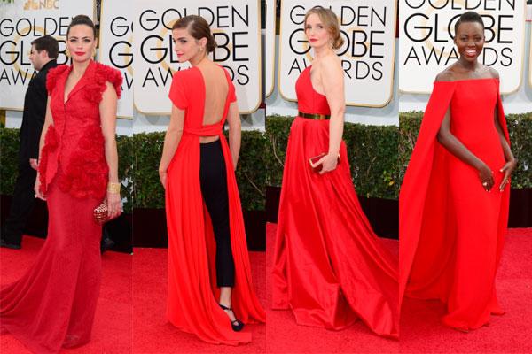 rojo, tendencias, globos de oro