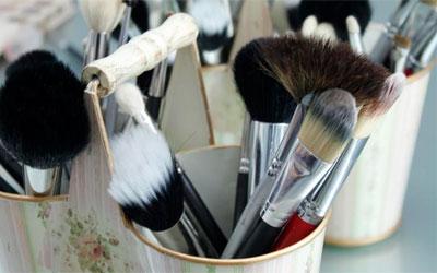 brochas, maquillaje