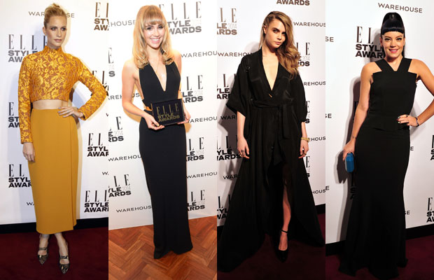 vestidos largos, elle style awards, delevingne, suki waterhouse
