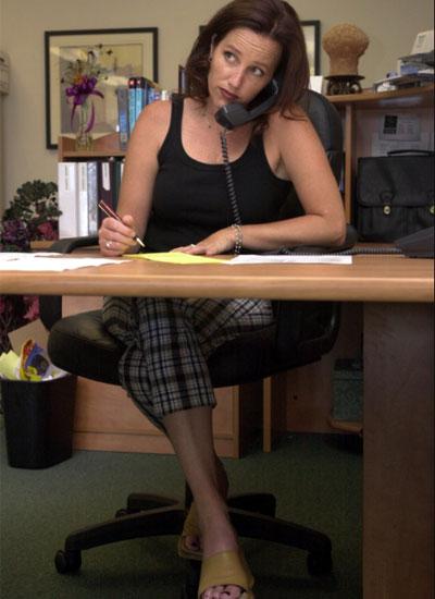 hábitos, oficina, mujer, trabajo