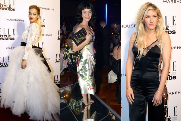 elle style awards, rita ora, ellie goulding, katy perry