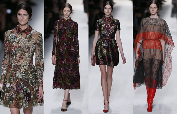 valentino, flores, ready to wear