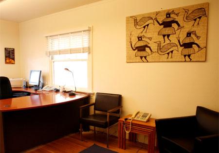 decoración, oficina
