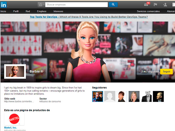 Barbie, Linkedin