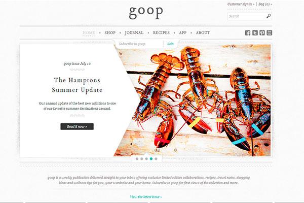 gwyneth paltrow, sitio web, goop
