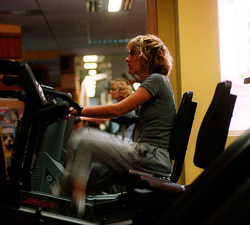 bicicleta, gimnasio, ejercicio