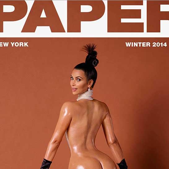 kim kardashian, paper, portada