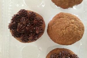 Thani - Muffin de plátano libre de gluten y con pasta de chocolate libre de proteína de la leche