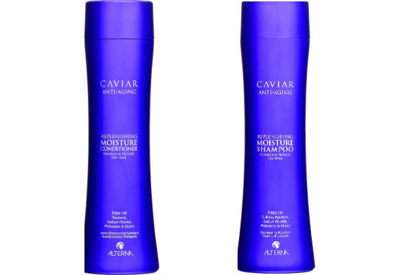 Shampoo y acondicionador de Caviar. Estos productos  revitalizan  el pelo dañado, seco y quebradizo para traer de vuelta el resplandor sedoso.