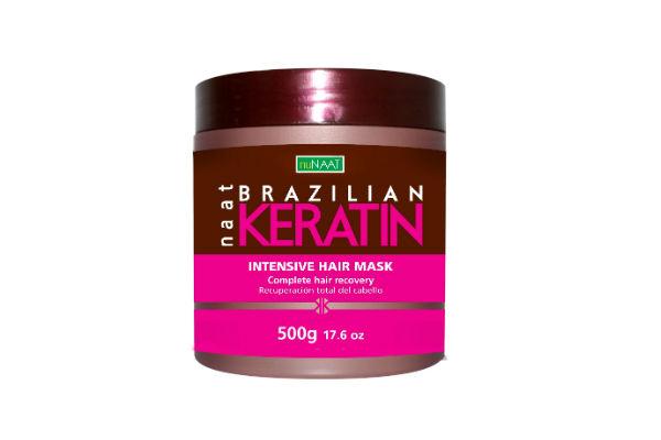Máscara capilar intensiva Brazilian Keratin de NUNAAT. Esta crema le devuelve el brillo, vitalidad y naturalidad al cabello.