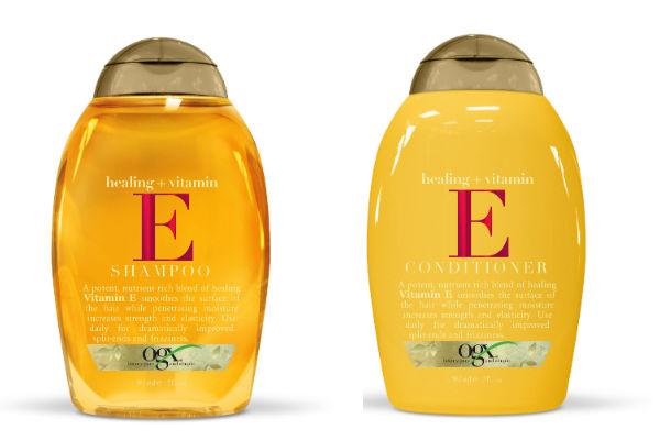 Shampoo y acondicionador de Vitamina E que ayuda a alisar la capa externa del cabello, fusionando las puntas abiertas mientras repara y agrega nutrientes.