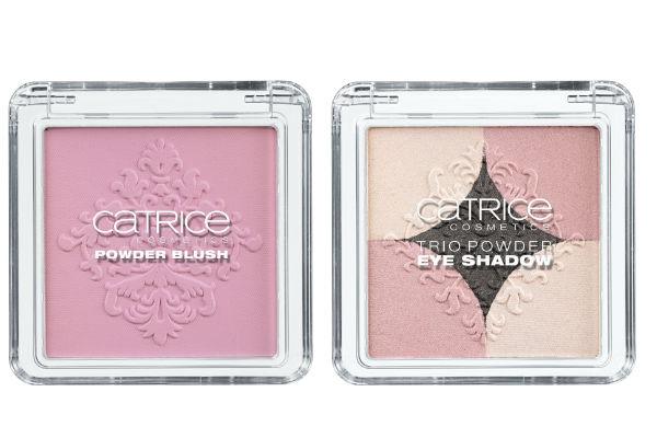 Rubor en polvo de Catrice dejará las mejillas intensas con tonos manzana. Trío de sombras en polvo ofrece tres tonos perfectamente combinados cada uno para una mirada expresiva.