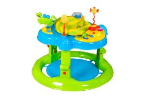 Centros de Actividades de Bebeglo de Baby Point Store, cuenta con 5 o 7 didácticos para estimular su curiosidad. Además incluye un automóvil o piano musical con melodías que puede extraer y llevar donde quiera. El asiento gira en 360°.