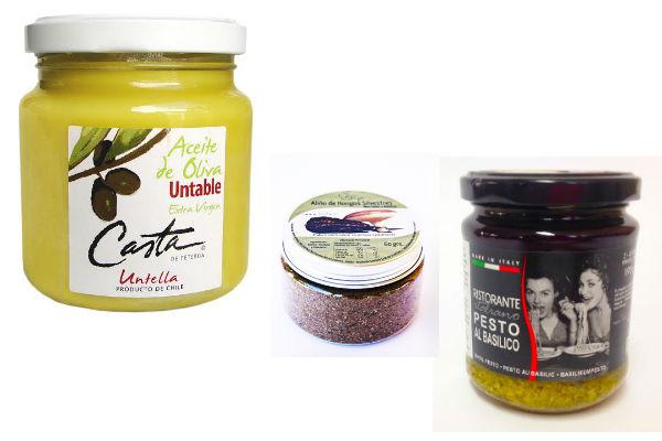Aceite de Oliva Untable en Emporio Terramater, Aliño de Hongos de Katankura y Pesto en Terramater