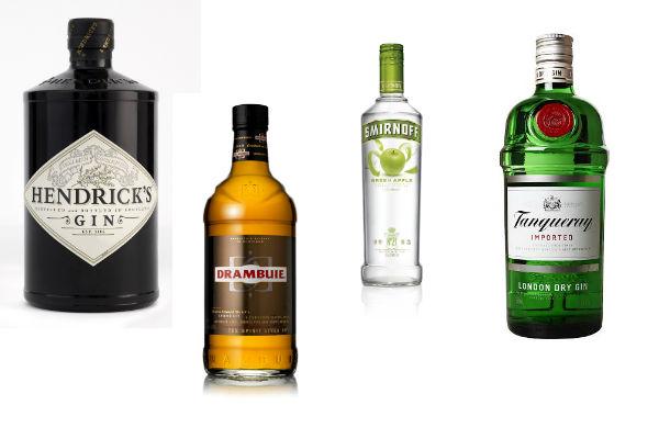 Para los que disfrutan de todos los traguitos: Gin Hendricks, Drambui, Vodka Smirnoff, Gin Tanqueray