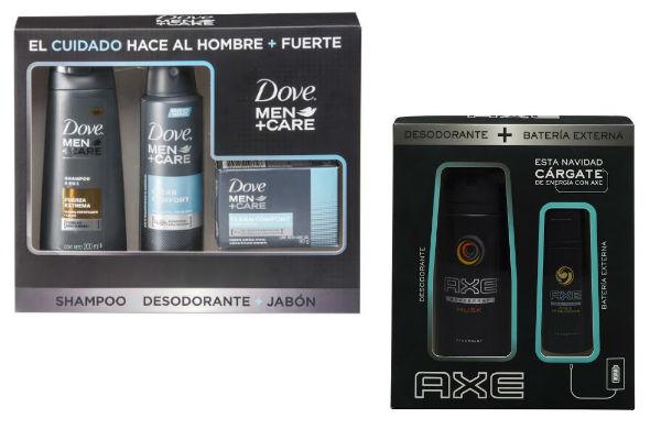 Pack salvadores de Dove y Axe, disponibles en farmacias