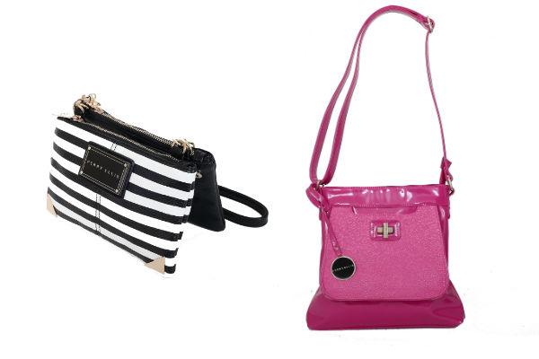 Perry Ellis tiene carteras  miniaturas hasta los maxi bolsos ultra prácticos y de tendencia con colores intensos como fucsia y azulino.