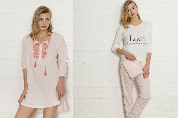 La línea de pijamas y camisolas de Women's Secret son de tejido extra suave y ligero y la paleta de colores va desde el uso monocromático en pasteles .