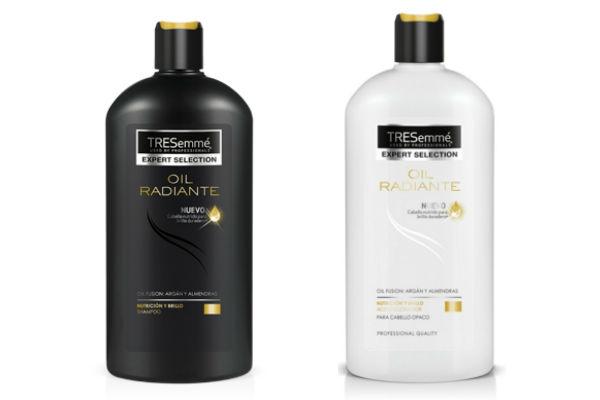 Shampoo y acondicionador Oil Radiante de Tresemmé. Estos productos nutren el pelo seco desde adentro.
