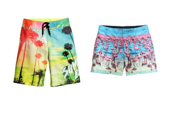 Short con diseños coloridos en H&M