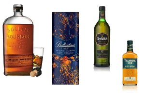 Para los amantes del Whisky: Bulleit Bourbon, Ballantines Edición Limitada, Glenfiddichy Tullamore Dew