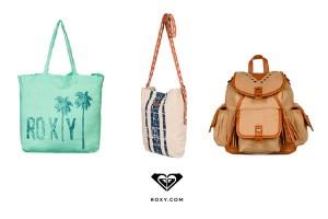 La nueva colección de Roxy Spring 16 cuenta con carteras, bolsos y mochilas con lindos diseños como flores, líneas, de cuero y de diversos tamaños.