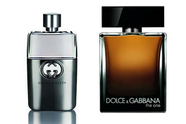 Los perfumes siempre serán un beun regalo: Guilty de Gucci y The One de Dolce & Gabbana.