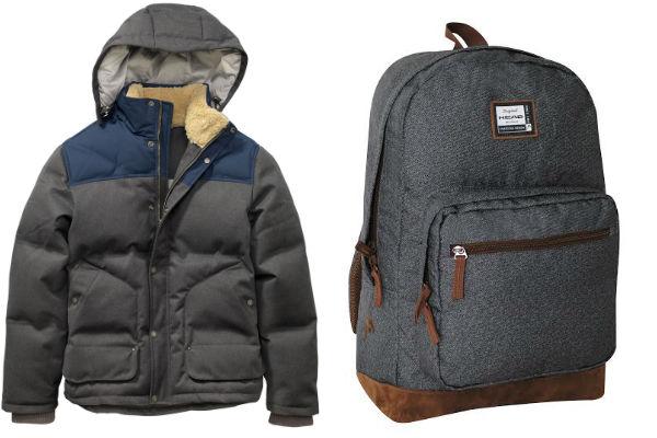 Una chaqueta Timberland perfecta para el frío y una mochila Head que lo acompañará a todas. Los mejroes regalos para tu papi.