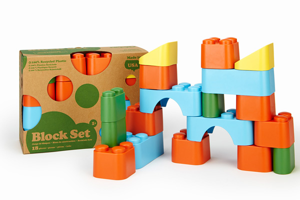 Bloques de Green Toys disponibles en Bebé Urbano.