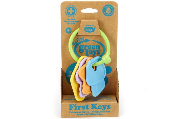 Juego de llaves de Green Toys disponibles en Bebé Urbano.