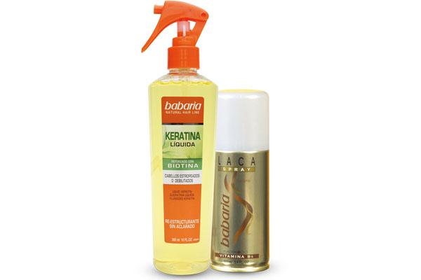 Babaria para el cuidado natural del cabello, no afectan su color ni lo aclaran.
