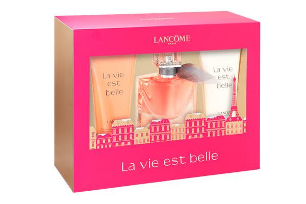 Cofre La Vie Est Belle. Contiene fragancia, gel ducha y crema.
