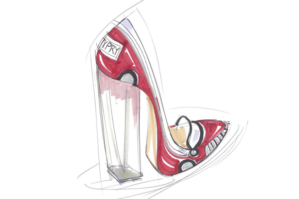Katy Perry ha dicho que este es su sueño hecho realidad. Siempre ha querido usar unos zapatos creados por ella misma.