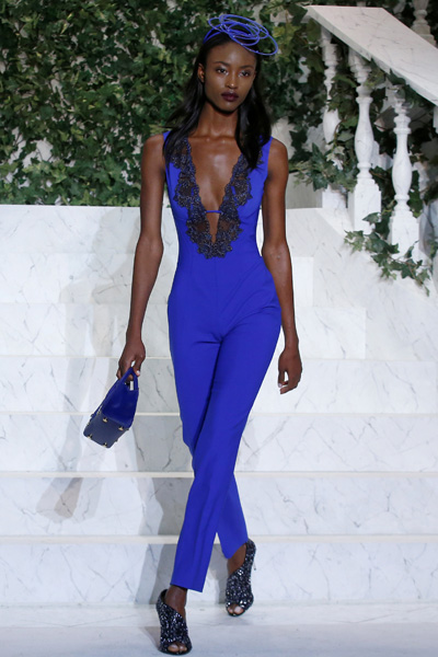 A model presents creations from the La Perla Autumn/Winter 2017 collection during New York Fashion Week