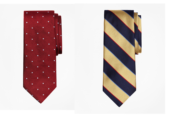 Corbatas de Brooks Brothers.