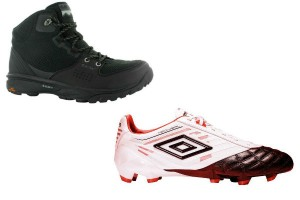 Bototo Hi TEC y zapato futbolero de Umbro