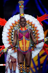 Model Grace Bol presents a creation during the 2017 Victoria's Secret Fashion Show in Shanghai