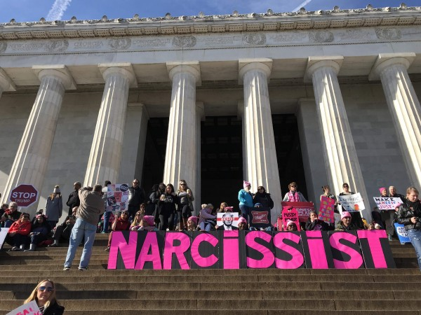 Supporters gather during the Women's March on Washington in Washingto