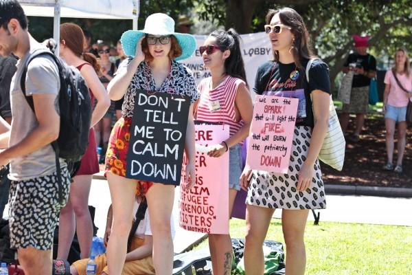 Women's March demonstration in Sydney's Hyde Park