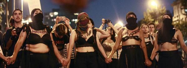 8 de Marzo del 2018/SANTIAGO Diferentes  organizaciones sociales y feministas del país convocaron a una  marcha por el Día Internacional de la Mujer, la que parte en plaza Italia y termina en La Moneda  FOTO: RODRIGO SAENZ/AGENCIAUNO