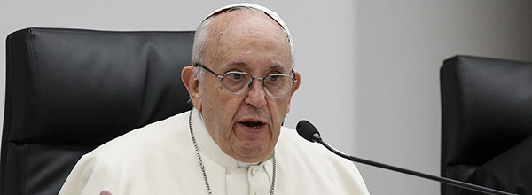 El papa Francisco en una reunión pre-sinodal con la juventud en Roma