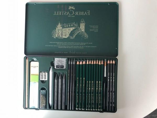 Esta caja de lápices de Faber Castell es perfecta para el papá artista.