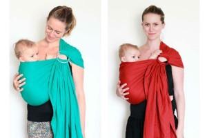 Las Bandoleras están formadas por una tela larga y dos anillas. El peso del bebé se reparte por la espalda y un sólo hombro. Puede usarse en distintas posiciones. Eso sí, no es recomendable hacerlo por mucho tiempo.