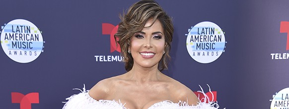 Gloria Trevi arrives at the Latin American Music Awards at the Dolby Theatre on Thursday, Oct. 25, 2018, in Los Angeles. (Photo by Richard Shotwell/Invision/AP) 2018 Latin American Music Awards - Arrivals