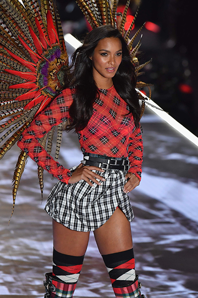 Brazilian Model Lais Ribeiro walks the runway at the 2018 Victoria's