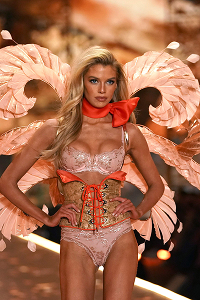 British model Stella Maxwell walks the runway at the 2018 Victoria's