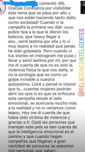 Constanza del Rosario publicó las reacciones tras los cambios que propuso a la campaña del Ministerio de la Mujer en su cuenta de Instagram